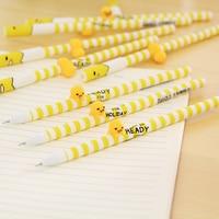 50 unids/set Corea Del Sur de Escritorio Creativos Encantadores Estéreo Pluma Neutral Negro Súper Pluma para Los Estudiantes de Kindergarten Regalo Del Niño