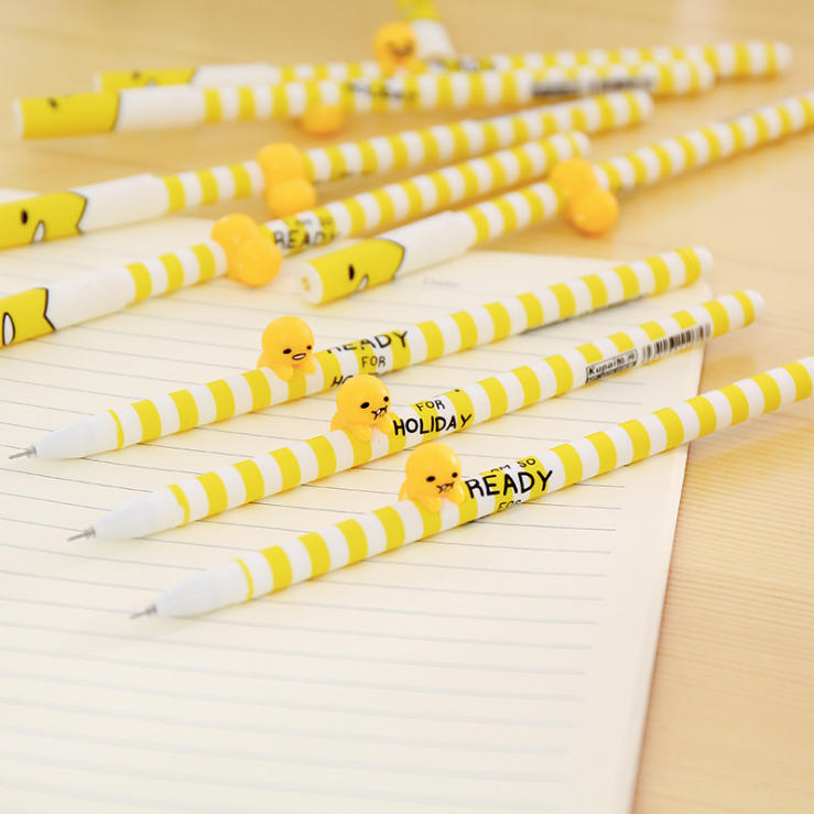 ФОТО 50pcs/set South Korean Creative Stationery Lovely Stereo Neutral Pen Super Black Pen for Students Kindergarten Child Gift