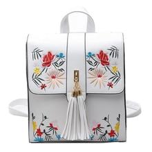 Mochilas Mujer женские сумки ручной вышивки дорожные сумки женщины рюкзак модные школьные сумки для девочек Back Pack Bagpack