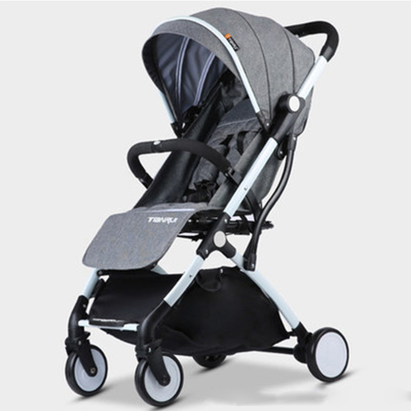 Child Baby Stroller Lightweight Portable Travel System Rubber Wheels Pram Prams For Newborns