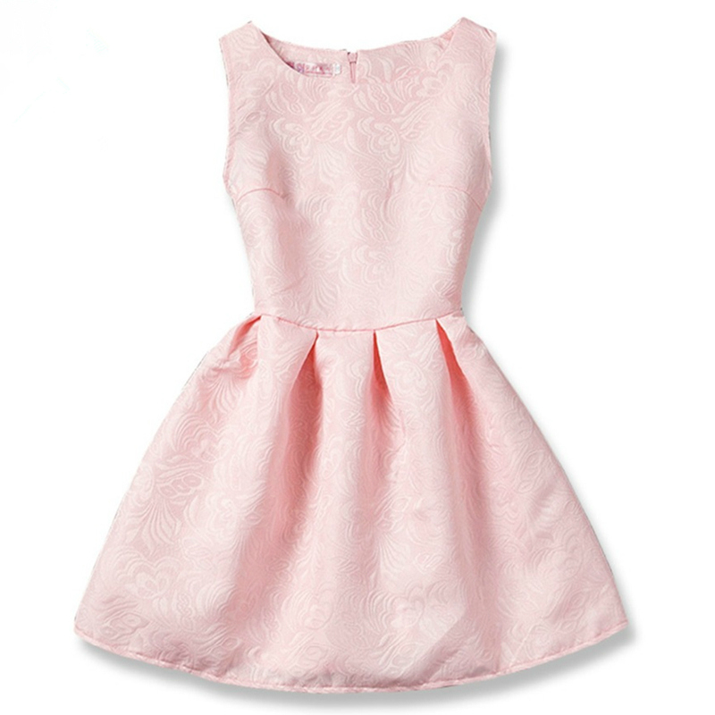 Summer Sleeveless Girls Dresses Daily Casual School Wear Teen Girl Floral A-line Dress Children Clothing for 6 8 10 12 Years a15 girls dress summer 2017 casual blue white kids dresses for girls off shoulder teenage girl clothing children 8 10 12 14 year