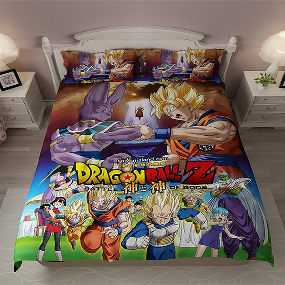 3D Dragon Ball Z Bedding Set 3PCS Duvet Cover Pillow Cases Quilt Cover Home Dec