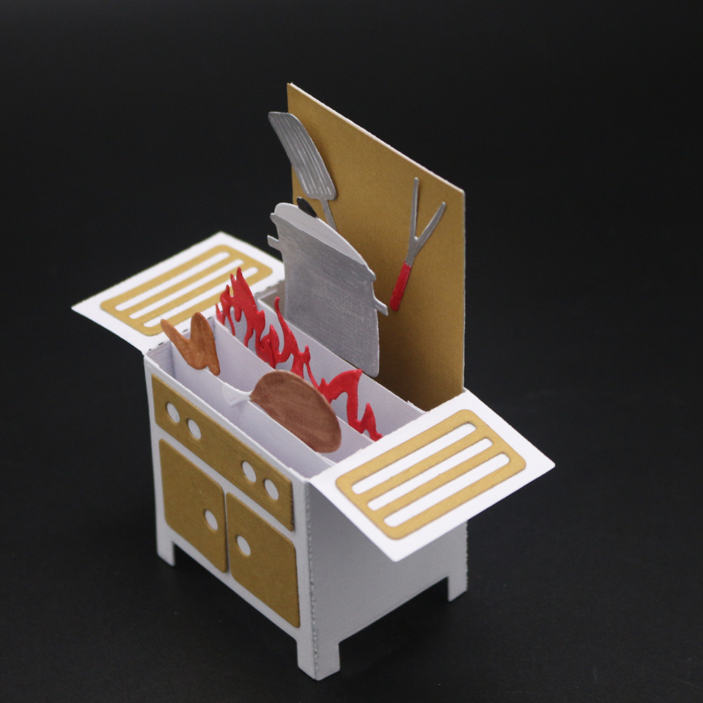 McDies 3D cocina gabinete Metal cortar plantillas para DIY ...