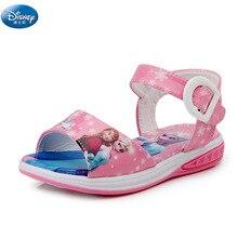 0ce4ddcb2e0601 Dziewczyny mrożone elsa i Anna Cartoon sandały Disney księżniczka dzieci  śliczne buty plażowe europa rozmiar 26