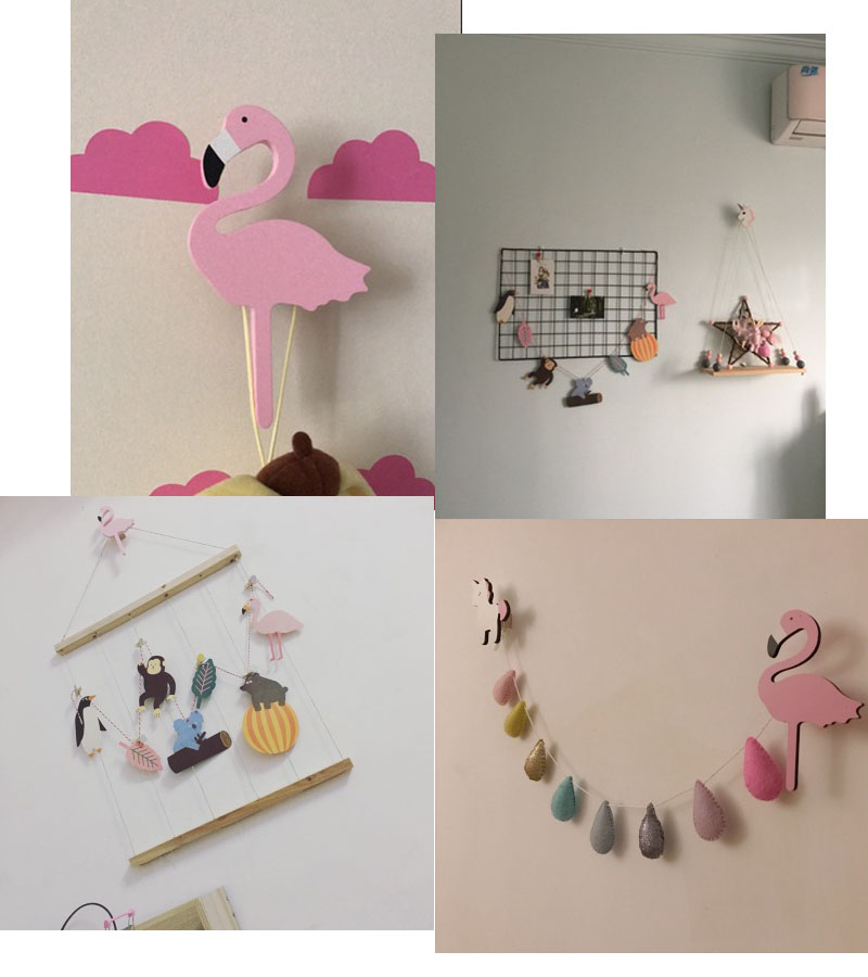 Unicorn Wall Clothes Hooks Wooden Baby Kids Room Wall Sticker
