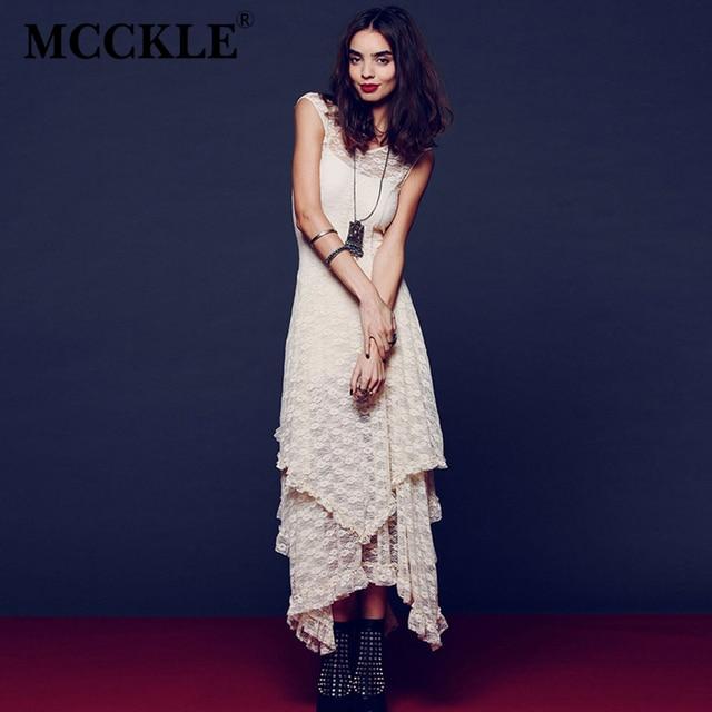 Asymmetrical Lace Maxi Dress Summer Hippie Style Dress 3