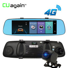 "CUagain CU6 DVR 8"" 4G Wifi Dash Cam Mirror Night Vision Car Camera Touch Screen ADAS GPS Recorder Car Video Mirror Registrar"