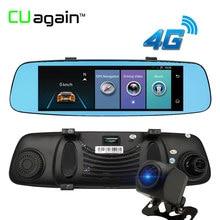 """Cuagain CU6 DVR 8 """"4 г Wi-Fi регистраторы зеркало Ночное видение автомобиля Камера Сенсорный экран ADAS GPS Регистраторы автомобиля видео зеркало Регистратор"""