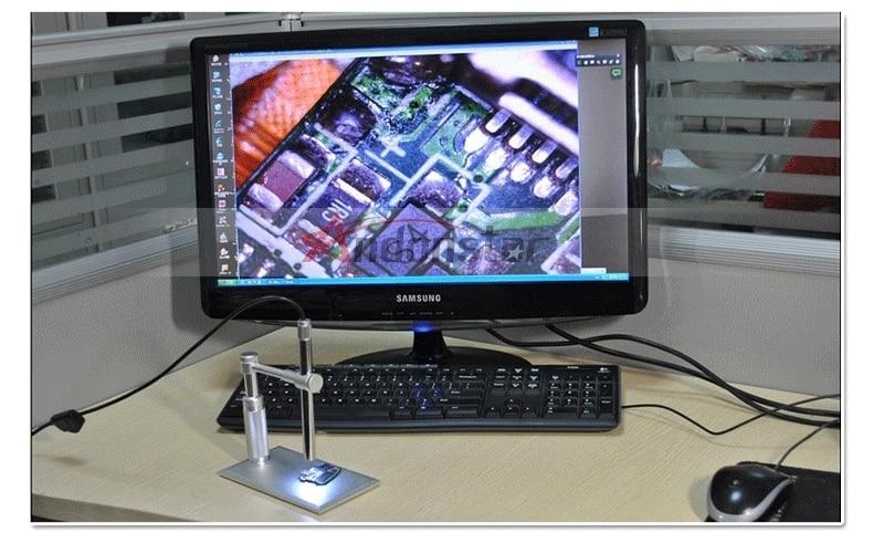 1-500x zoom 2MP HD USB microscopio Digital 8 LED cámara de vídeo electrónica pluma electrónica endoscopio lupa para reparación de circuitos