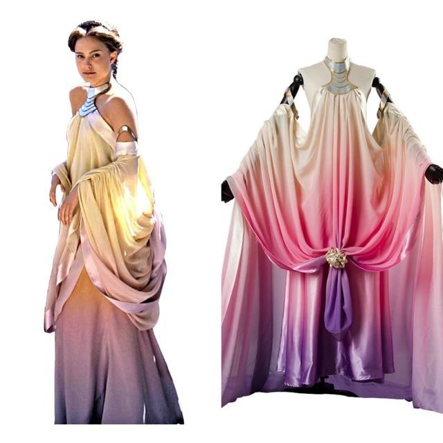 Star Wars Padme Amidala Cosplay Costume long party dresses Halloween ...