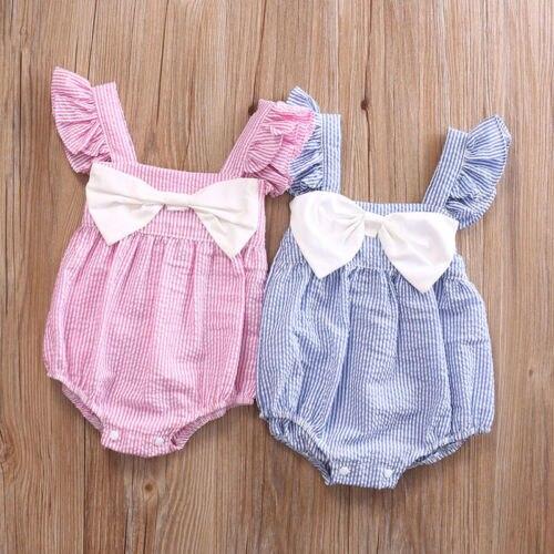 Newborn Infant Baby Girls Floral Cotton   Romper   Jumpsuit