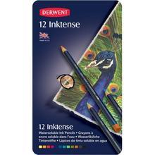 12ピース/ロットderwent inktense 12鉛筆スズセット水溶性鉛筆塗装rotulador