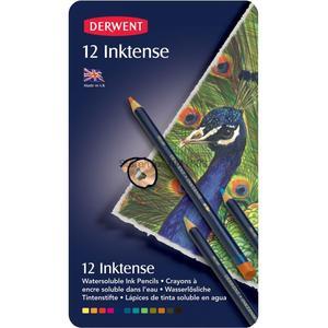 Image 1 - 12 pièces/lot dergone Inktense 12 crayons etain ensemble crayon Soluble pour peinture rotule