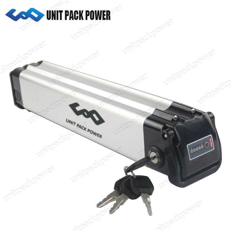 Peixes de prata bateria de iões de lítio 24 v 10Ah 12Ah 15Ah e moto-bateria para 300 w 250 w X- XB x-treme bicicleta elétrica