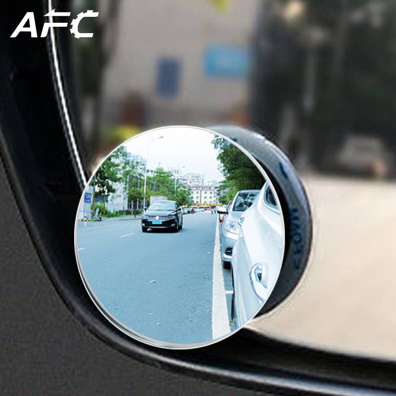 1pc HD 360 Degree Wide Angle Adjustable Car Rear View Convex Mirror Auto Rearview Mirror Vehicle Blind Spot Rimless Mirrors car reversing auxiliary mirror car blind spot reversing rearview mirror support angle adjustment