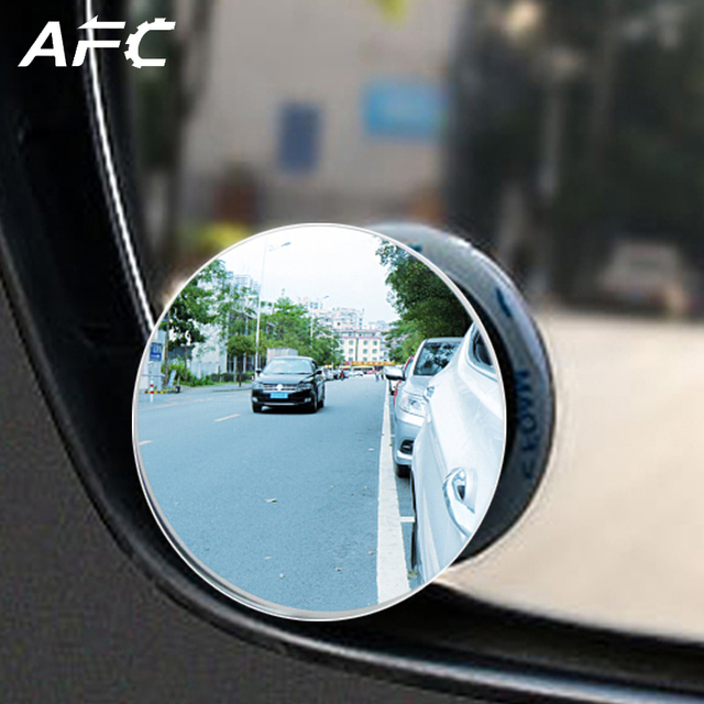 1pc HD 360 Degree Wide Angle Adjustable Car Rear View Convex Mirror Auto Rearview Mirror Vehicle Blind Spot Rimless Mirrors
