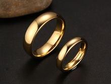 Женское и мужское обручальное кольцо Золотое из вольфрамовой