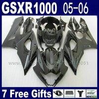 OEM Injection molding motorcycle fairings kits for suzuki K5 full black kits 2005 2006 05 GSXR 1000 06 body fairing kit