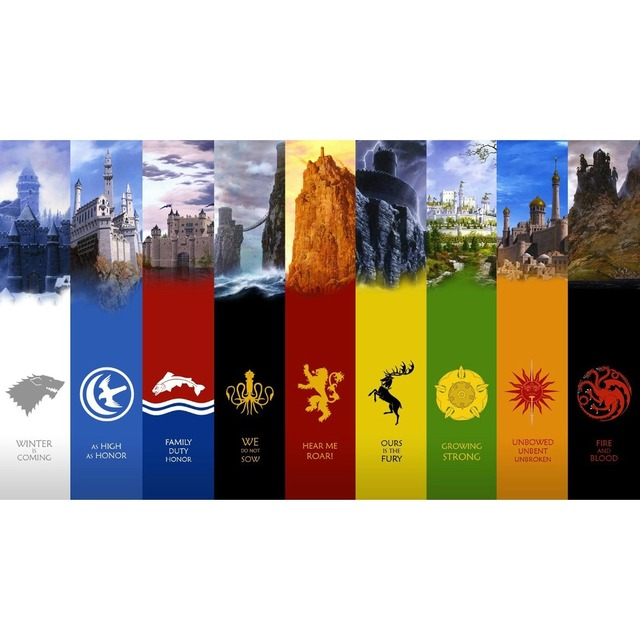 Free Shipping Game Of Thrones A Song Of Fire And Ice House