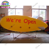 Customized logo giant 4m inflatable hot air balloon toys inflatable air ship for promotion