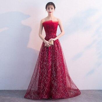 New Lace Tail Fequins  Bridesmaid Dress 2019 Long Formal Wedding Party Prom Reflective Dresses robe de soiree vestido de noiva