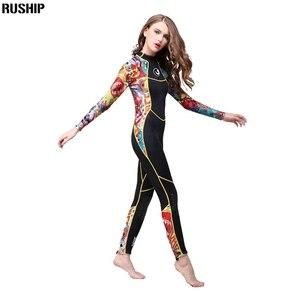 Image 4 - Hisea נשים 3 mm SCR neoprene חליפת צלילה גבוהה גמישות צבע תפרים לגלוש צלילה חליפת ציוד מדוזות בגדים ארוך שרוולים