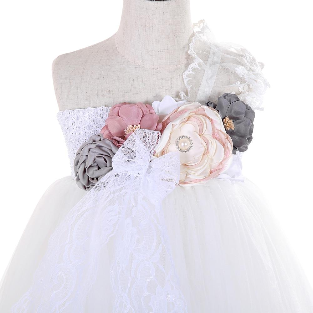 Lilacs Toddler Girl Christmas Tutu Dress Girls Frock Children Nova Ankle Length Lace One Shoulder Dress Kids Costume Princess 8T (19)