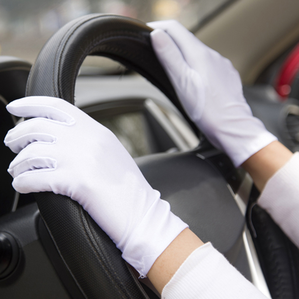 Summer Sunscreen UV Gloves Women's Car Driving Gloves Super-elastic Solid Women Riding Gloves White Beige Black Coffee Grey