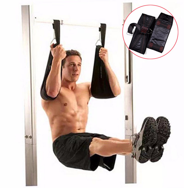 6dc63a41112 Home Fitness AB Sling Straps Abdominal Carver Hanging Belt Chin Up Sit Up  Bar Pull up Heavy Duty Muscle Training support belt