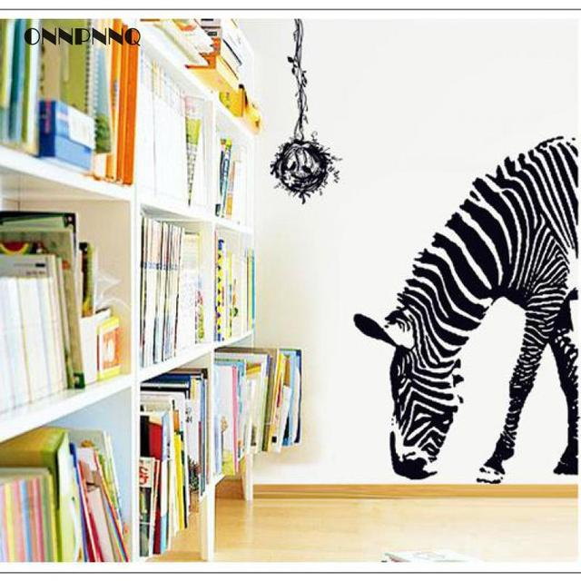 1pcs Creative Animal Zebra Wall sticker Wall Decorations Living Room Horse Animal Door Decoration Removable Wall  sc 1 st  AliExpress.com & 1pcs Creative Animal Zebra Wall sticker Wall Decorations Living Room ...