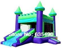 PVC6.5×4.5x4m tarpaulin inflatable bouncers with slide for kids and baby