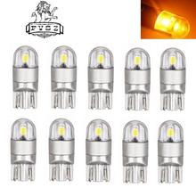 Car-Styling  LED T10 W5W 3030 168 192 2W Yellow 2-SMD Indicator Lamps (2 Pcs)
