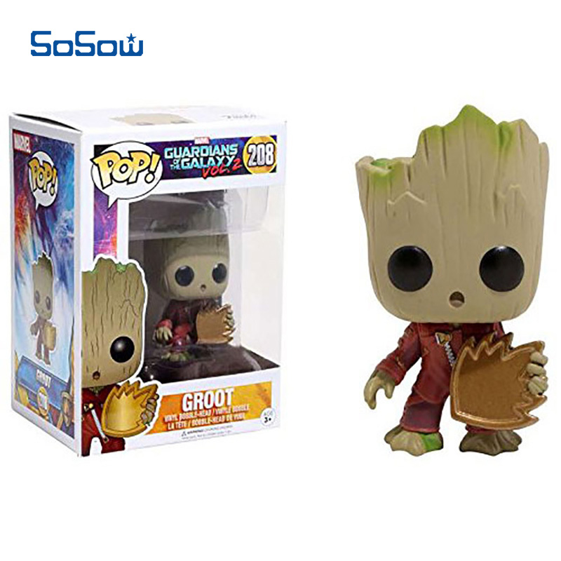 Groot Funko Pop Guardians of the Galaxy Figurines 10cm PVC Funko Movie Action Figure Galaxy Groot Nendoroid Toys for Kids new funko pop guardians of the galaxy tree people groot