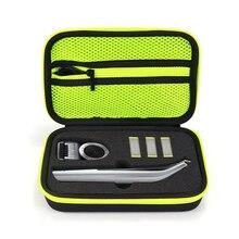 Capa dura para norelco oneblade pro, proteção antiqueda prática para barbeador philips caixa de armazenamento
