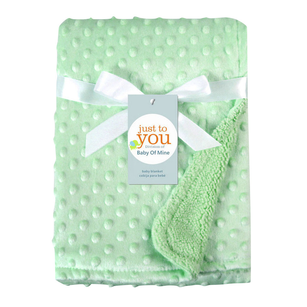 2019 Summer Hot Selling Newborn Baby Solid Blanket & Swaddling Thermal Soft Fleece Blanket Bedding Quilt
