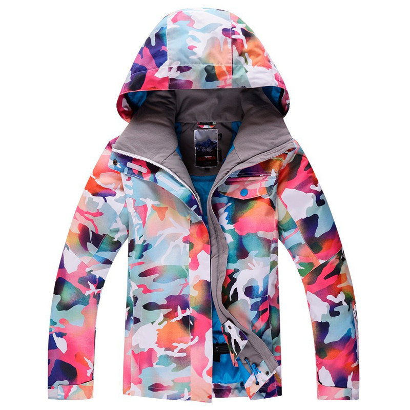 High Quality Woman Snow Jackets Snowboarding Clothing Outdoor Sports ski Coat Waterproof -30 Warm Costume Ski jackets for Female running river brand winter thermal women ski down jacket 5 colors 5 sizes high quality warm woman outdoor sports jackets a6012