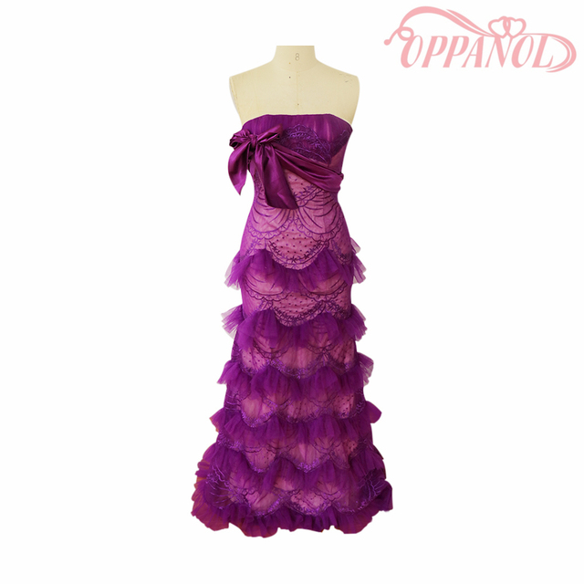 Robe De Soiree 2017 Purple Tiered Cupcake Long Prom Dresses Fashion ...