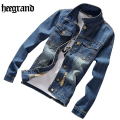 HEE GRAND New Spring Male Denim Jacket Jacket Menswear Casual Jackets Jeans Fashion Jackets Plus Size S-5XL MWJ2230
