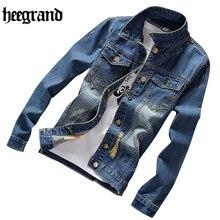 HEE GRAND New Frühjahr Männlichen Denim Jacke Herrenmode Casual Jacken Jeans Mode Jacken Plus Größe S-5XL MWJ2230
