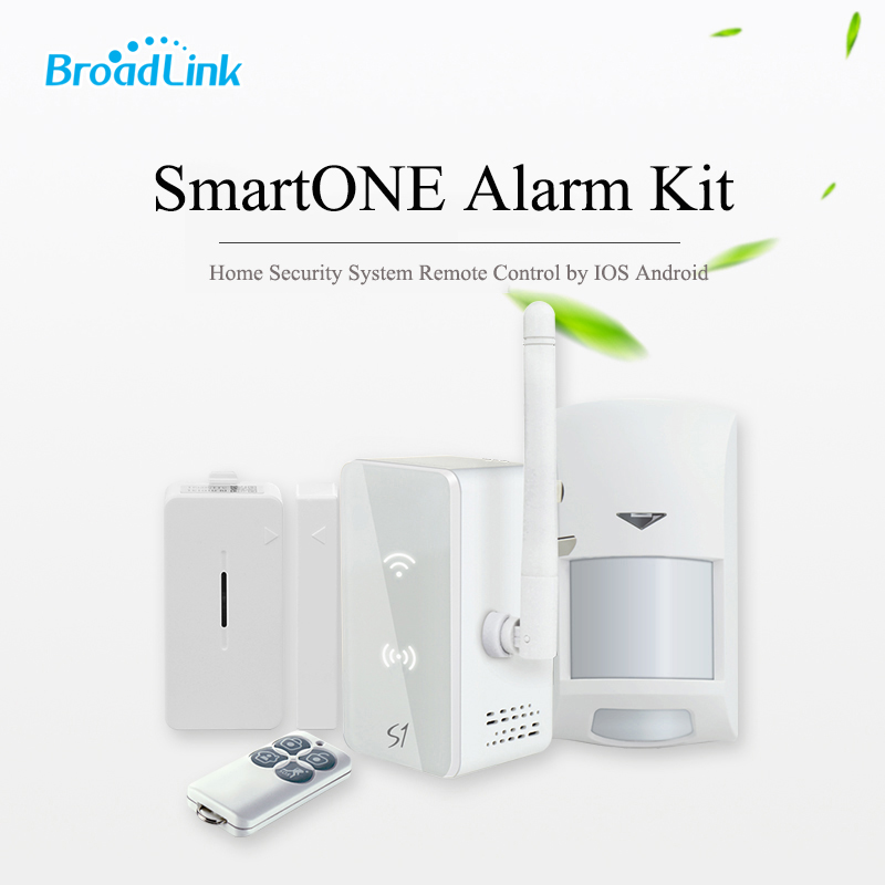 Broadlink S1C S1 Wireless Alarm System Kit SmartONE Host 433Mhz PIR Motion Sensor Door Sensor Fob Remote Control by IOS Android