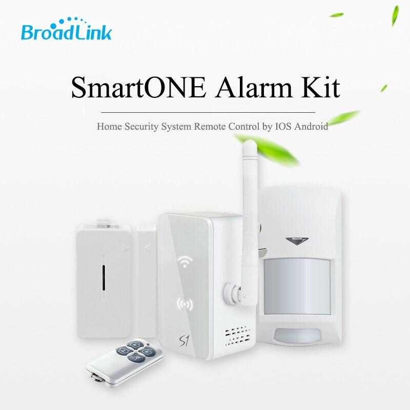 imágenes para Broadlink s1c s1 kit smartone host 433 mhz sistema de alarma inalámbrico pir motion sensor sensor de puerta de control remoto fob por ios Android