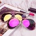 Colossein orange etiqueta óculos de sol clássicos óculos moldura aceate pernas polarizados lentes de espelho de metal de grandes dimensões mulheres estilo moda de rua