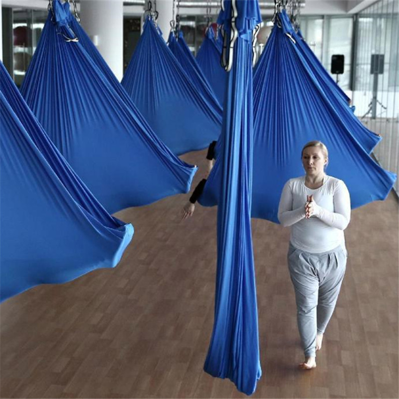 14 colors 5m Aerial Flying Anti Gravity Yoga Hammock Swing Yoga Set Body Building Fitness Equipment