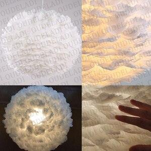 Image 5 - Современные круглые подвесные светильники E27 в скандинавском стиле с белыми перьями, декоративные лампы для столовой, спальни, гостиной, освещение для дома