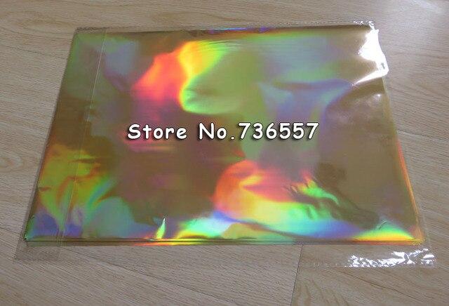 Livraison Gratuite 50 Pcs 20x29 Cm A4 Laser Dor Estampage A Chaud Feuille Papier