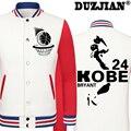 2016 Весной новые случайные Лейкер 24 Kobee Branty куртка дешевые мужчины зимние куртки мужской пальто колледж куртки мальчиков куртка хип-хоп