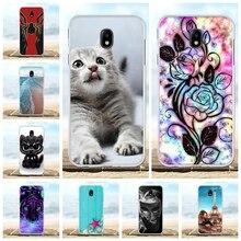 For Samsung Galaxy J7 2018 J737 Cover Soft TPU Star Case Cat Patterned V Funda Bag