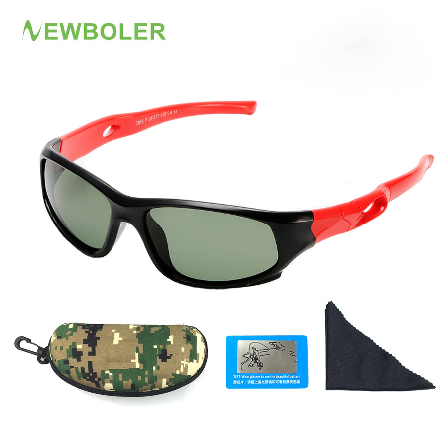 NEWBOLER Cycling Glasses For Kids Outdoor Sports Polarized Sunglasses UV400 Protection Children Goggles Boys Girls Eyewear стоимость