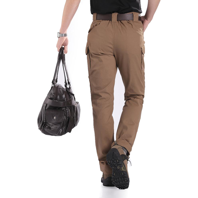 Men Trousers Solid Color Tactical Waterproof Multi pockets Long Pants MSD ING in Hiking Pants from Sports Entertainment