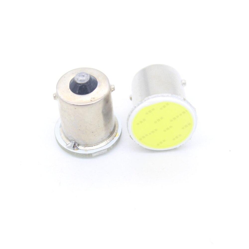 2015 new 1X xenon white 1156 BA15S 1COB car Leds light auto turn signal reverse light Interior Packing 1set 1pcs Car Styling